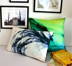 Love the watercolor look and feel of these pillows!