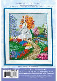 Anita Goodesign   Country Church Tile Scene - Anita Goodesign