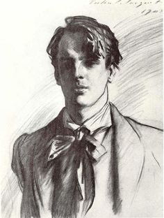 Yeats by John Singer Sargent. Great pencil work, especially the teeny highlight in the dark areas of his face.