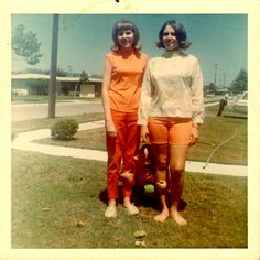 street style  1968   by it's better than bad, via Flickr  Colors together/ cut of pants shorts shirts