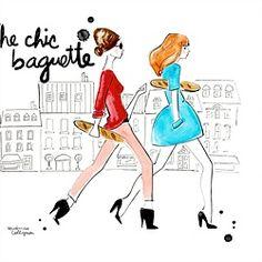 An illustration of walking fashion girls