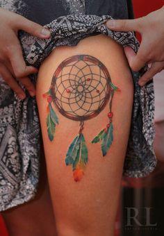 Tatuagem Feminina na Perna   Filtro dos Sonhos