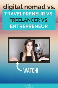 """Digital Nomad vs. Travelpreneur vs. Freelancer vs. Entrepreneur. We all hear these terms thrown around. It begs the question: What's the diff?  I didn't know for a long time. And that's probably why I'd stare blankly back when someone would ask how my """"freelancing/consulting/remote business"""" was going. I didn't know which category I fell under. (And at that time, it didn't really matter.) http://elisedarma.com/blog/digital-nomad-vs-travelpreneur-vs-freelancer-vs-entrepreneur"""