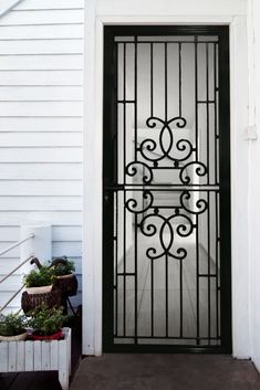 Protect your home with quality safety doors and screens from Sydney Blinds & Screens. Security Doors, Security Screen, Screen Design, Door Design, Traditional Looks, Traditional House, Door Grill, Iron Front Door, Wrought Iron Doors