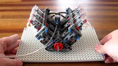 Lego Pneumatic Engine - simple V6
