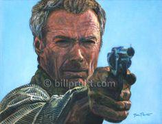 "ORIGINAL Clint Eastwood Unforgiven portrait oil painting art 14""x18"" Bill Pruitt #ClintEastwood #Unforgiven"