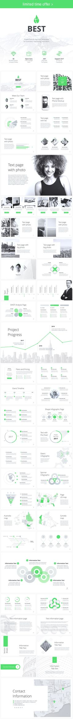 The Best PowerPoint template green includes 50 unique slides. Supported versions… The Best PowerPoint template green includes 50 unique slides. Deck Design Tool, Slide Design, Professional Powerpoint Templates, Swot Analysis, Best Templates, Keynote Template, Knowledge, Good Things, Infographics