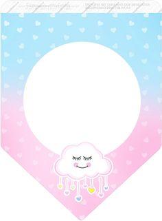 Bandeirinha Varalzinho 3 Chuva de Amor Baby Shawer, Bunting Flags, Birthday Crafts, Romantic Gifts, Scrapbooks, Origami, Christmas Crafts, Clip Art, Rainbow