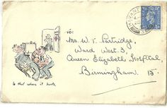 1941 Nice little hand drawn sketch on cover 'Is that where it hurts' (see pic)