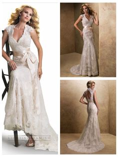 Slim Cap Sleeves V-neck Lace Open Back Wedding Dresses  #wedding #dresses #dress #lightindream #lightindreaming #wed #clothing   #gown #weddingdresses #dressesonline #dressonline #bride  http://www.ckdress.com/slim-cap-sleeves-vneck-lace-open-back-wedding-  dresses-p-153.html