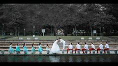 Wedding day photography in Singapore at Bedok Reservoir Park!