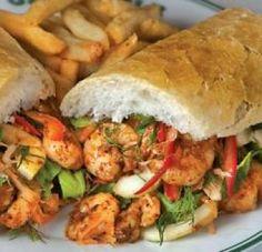 ~BBQ Shrimp Po' Boy~ Recipe courtesy of Brent Applewhite Creole Recipes, Cajun Recipes, Seafood Recipes, Dinner Recipes, Cooking Recipes, Pasta Recipes, Louisiana Seafood, Louisiana Recipes, Southern Recipes