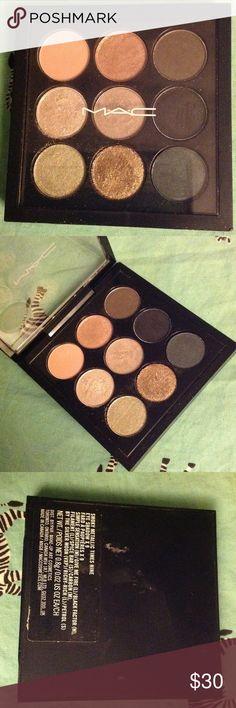 MAC Smoky Metallic x 9 Swatched 2-3 times. Still in amazing condition! MAC Cosmetics Makeup Eyeshadow