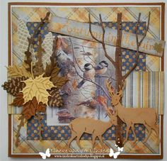 3d Cards, Pop Up Cards, Fall Cards, Christmas Cards, Teresa Collins, Marianne Design, Thanksgiving Cards, Animal Cards, September 2014