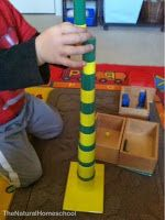 The Natural Homeschool: Montessori Sensorial: Knobless Cylinders