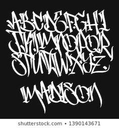 Graffiti Alphabet Styles, Graffiti Lettering Alphabet, Tattoo Fonts Alphabet, Chicano Lettering, Tattoo Lettering Fonts, Hand Lettering Styles, Graffiti Font, Graffiti Designs, Graffiti Drawing