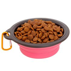 Free Shipping Pet Dog Cat Bowl Puppy Drinking Collapsible Easy Take Outside 3 Colors Feeding Water Feeder Travel Bowl Dish