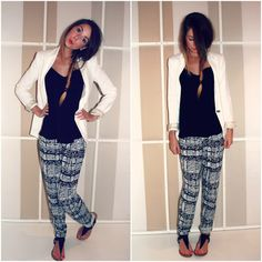 Zoella | Beauty, Fashion & Lifestyle Blog: Holiday Evening Outfit | White Blazer