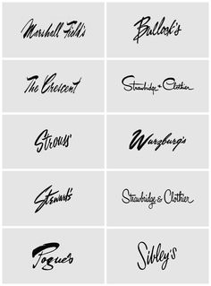:: Script lettering from american department stores ::