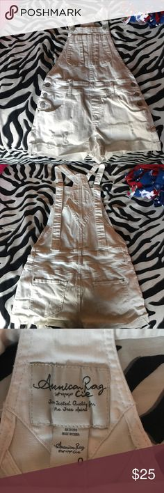 American Rag Overalls American Rag white overalls: women size 0. used once. American Rag Other