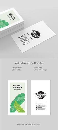 Tropical Creative Business Card