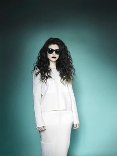 Lorde will be in the Rock n Roll hall of fame one day but sometimes she is so pale, it scares me.