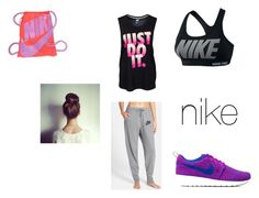 """Untitled #31"" by claireblockk ❤ liked on Polyvore featuring NIKE"