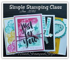 simple stamping class jan 2015 featuring occasion catalog products
