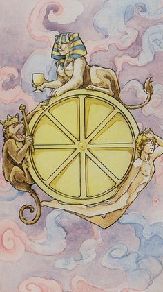 Wheel of Fortune - Lo Scarabeo Tarot Tarot Card Decks, Tarot Cards, Wheel Of Fortune Tarot, Tarot Significado, Online Tarot, Tarot Card Meanings, Major Arcana, All Is Well, Special Person
