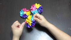 flores redondas en cinta de raso y gross para decorar accesorios para el...