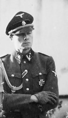 Joachim Peiper a handsome criminal of war. Responsible of different massacres for retaliation, including the one in Boves (Italy) where 23 civilians (seniors, women and children) in September '43