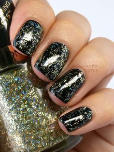 Revlon Spring 2015 Transforming Effects Top Coat: Review and Swatches Golden Confetti