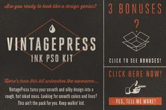 VintagePress - Ink Plate Effects - Layer Styles - 1