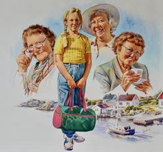 Everyone should have a loving grandmother. Or neighbour. This Illustration makes me think of how lucky I was to have two. And one of these lovely ladies was my mother in law. One of the most loving woman I have ever met. How Lucky Am I, Law, Princess Zelda, Illustrations, Woman, Fictional Characters, Illustration, Women, Fantasy Characters
