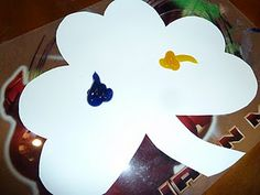 St. Patrick's Day craft...yellow and blue make green! :)