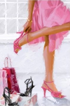 illustrations de richard mcneil - Page 15 Pink Fashion, Fashion Art, Illustrations, Illustration Art, I Believe In Pink, Art Themes, Shoe Art, Fashion Sketches, Girly Girl