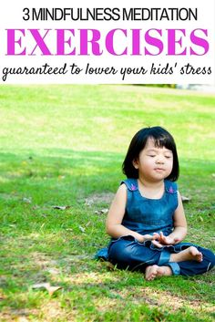 Ample research shows that meditation reduces stress and anxiety. Check out these 3 mindfulness meditation exercises that will reduce stress for you & your kids! via @marniecraycroft