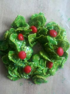 cornflake wreaths for christmas