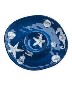 Another great find on #zulily! Cobalt Blue Shoreline Chip N Dip Platter #zulilyfinds