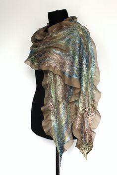 Nuno Felted Scarf Wrap   50/50 Australian merino wool / tenc…   Flickr