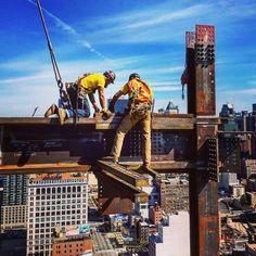 Civil Engineering Construction, Construction Worker, Steel Erectors, Custom Metal Fabrication, Iron Man Art, High Iron, Work Tools, Steel Structure, Unique Photo