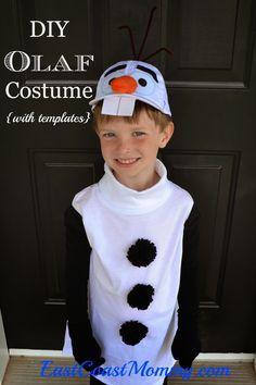 East Coast Mommy: DIY Olaf Costume (full tutorial and FREE templates) -- SOOOO CUTE... and easy! #Disney #Frozen #Olaf