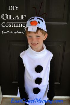 East Coast Mommy: DIY Olaf Costume (full tutorial and FREE templates) -- SOOOO CUTE... and easy! #Disney #Frozen #Olaf