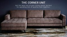 @Home Corner Unit, House Goals, Quality Time, Living Spaces, The Unit, Couch, Furniture, Home Decor, Settee