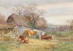 Charles James Adams (1859-1931). Victorian Painter