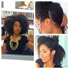 The BIG hair is in full effect with this 3-way #crochetbraids…