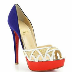 """Authentic christian louboutin Ekaia pump Brand new include box, 2 dust bags, and heel replacement. 5.5"""" high with 1"""" platform. There's a little scuff mark in the inside of the sole of the right shoe where the feet goes as seen in the second picture Would trade for same style size 38 or a different CL size 38. Christian Louboutin Shoes Platforms"""
