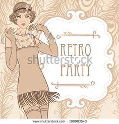 Retro party invitation design by Gorbash Varvara, via Shutterstock