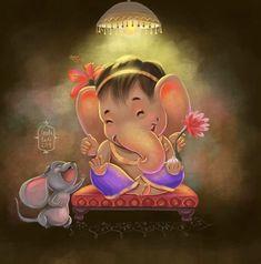 Ganesha Sketch, Ganesha Drawing, Lord Ganesha Paintings, Lord Shiva Painting, Ganesha Art, Krishna Painting, Krishna Art, Radhe Krishna, Ganesh Statue