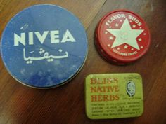 Vintage Nivea Tin With Arabic Writing (made in Germany)